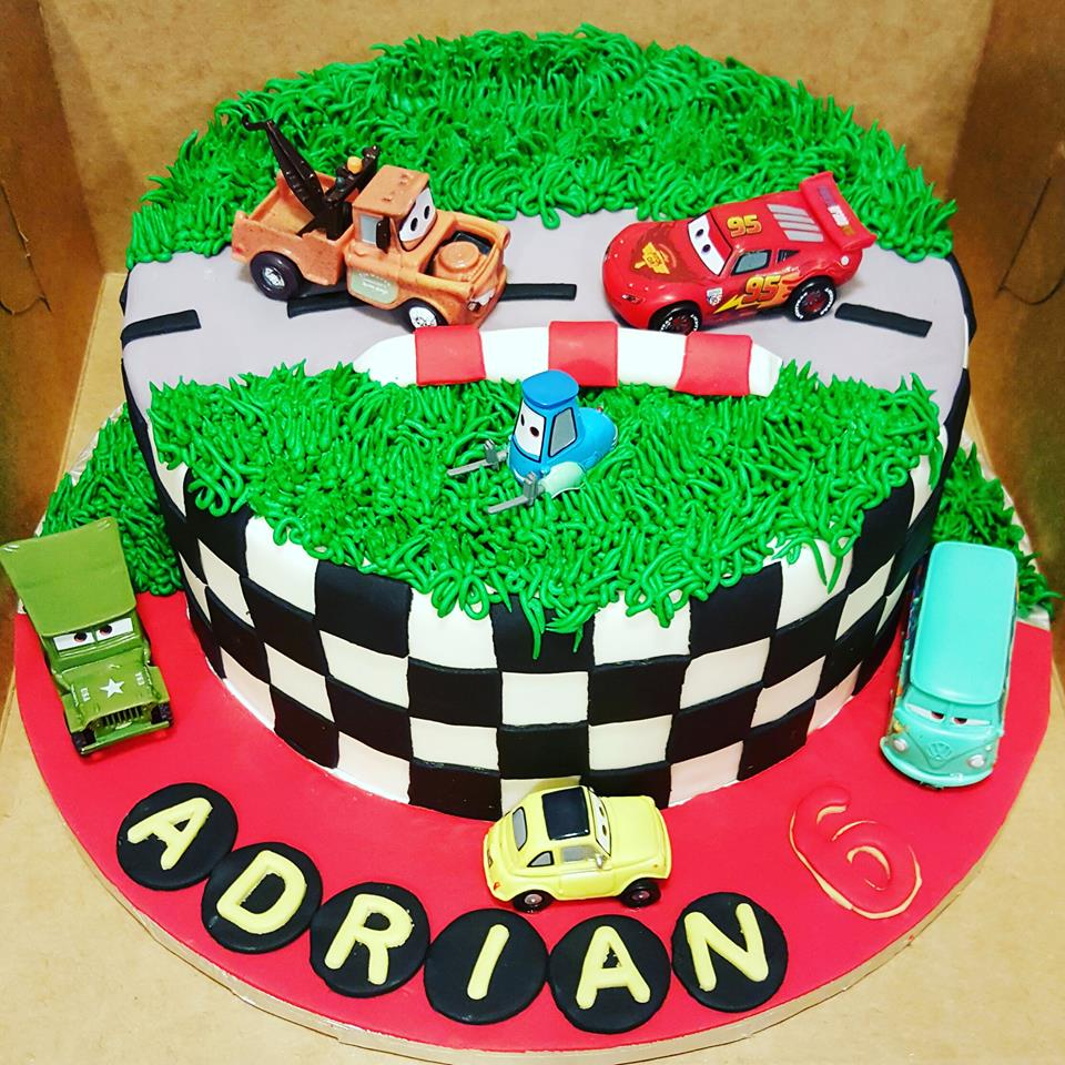cars movie theme birthday cake - Custom Created Cakes by Brandi Custom ...