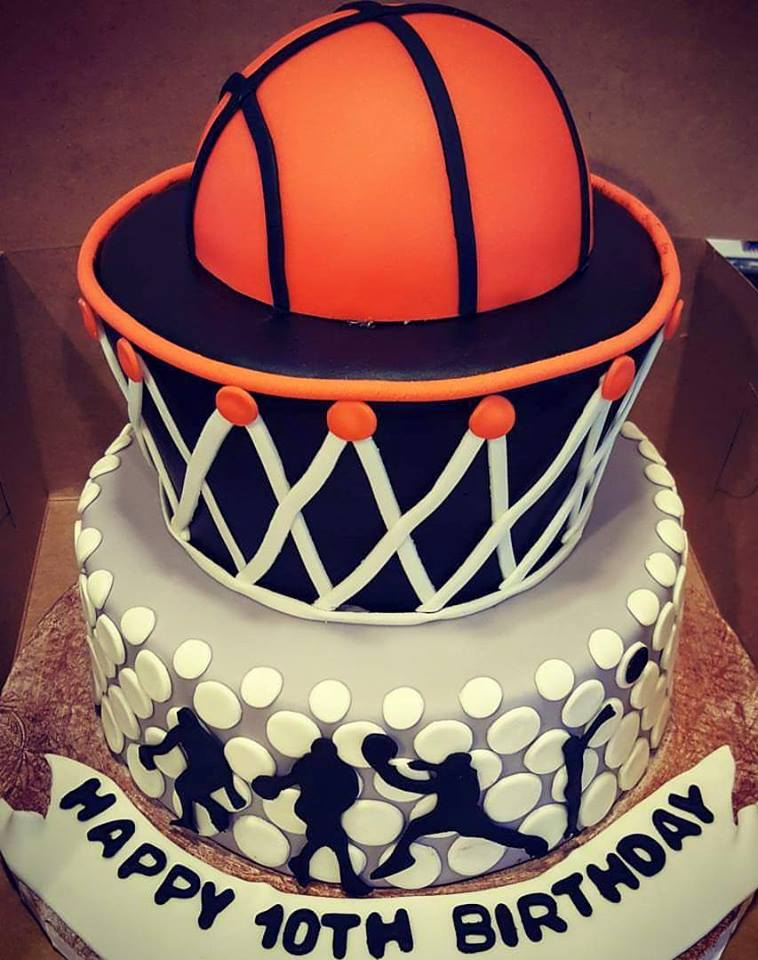 Birthday Cake For Basketball ~ Basketball hoop birthday cake custom created cakes by brandi and sweets for every