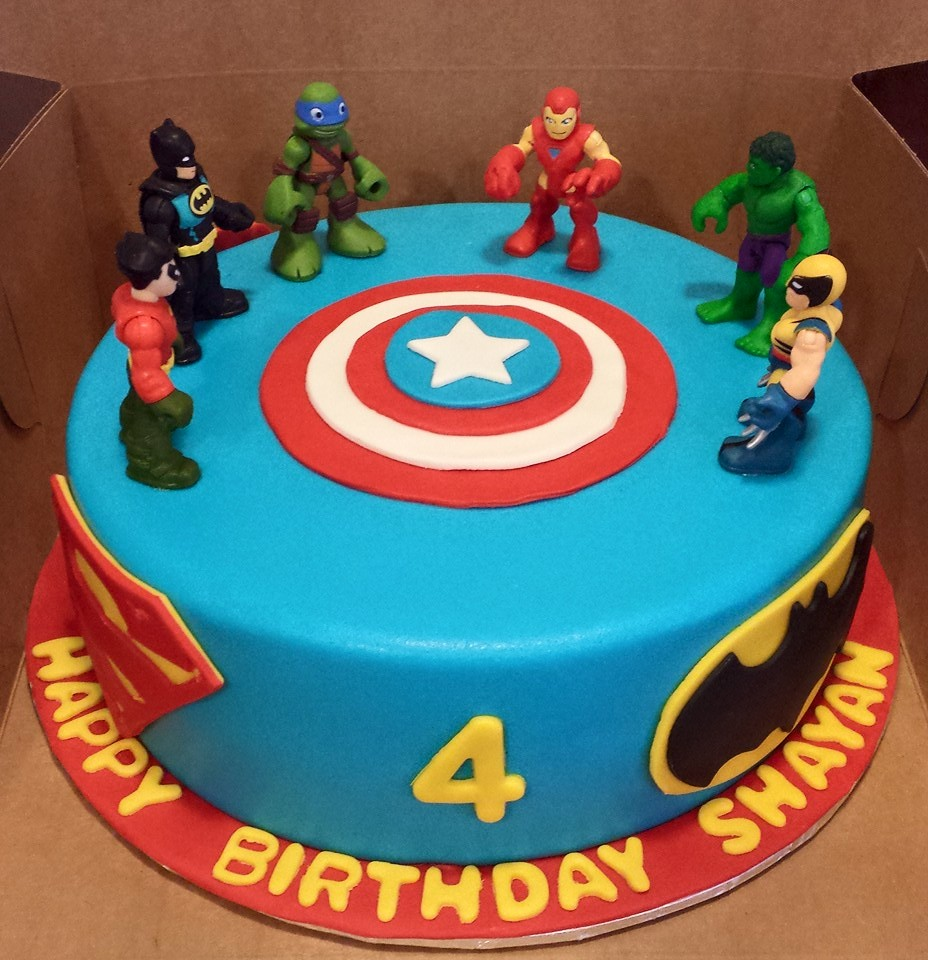 Fantastic Superhero Cakes Archives Custom Created Cakes By Brandi Custom Personalised Birthday Cards Veneteletsinfo